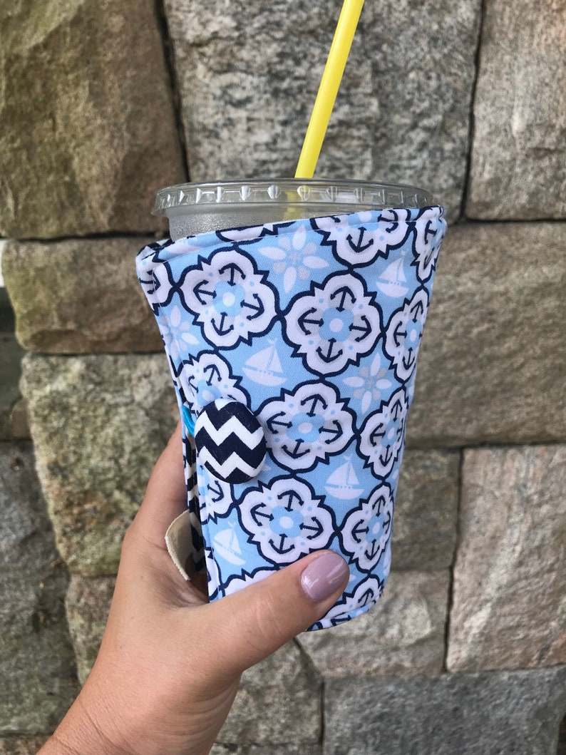 Coffee Cozy-fits all size hot/iced coffees: Let's Get image 0