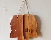 Reclaimed Heart Pine Mississippi Ornament