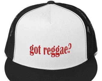 Got Reggae  Reggae Music Embroidered Snapback Trucker Cap Hat 970770bd0df7