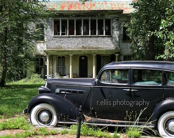 Photography, Old Packard Parked Out Front, 11 x 14 Inch Photographic Print
