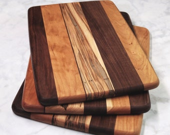 Wood Cutting Board, Walnut, Cherry & Ambrosia Maple Wood