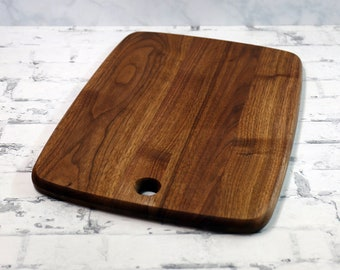 Large or Regular Size Wood Cutting Board, Walnut Wood
