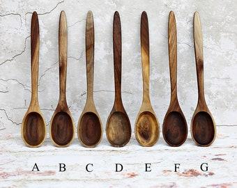 Wooden Spoon, Premium Collection Spoons, Figured Grain or Two Toned Walnut Wood