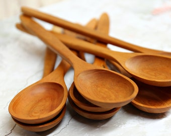 Wooden Spoons, Cherry Wood (1 piece per purchase)