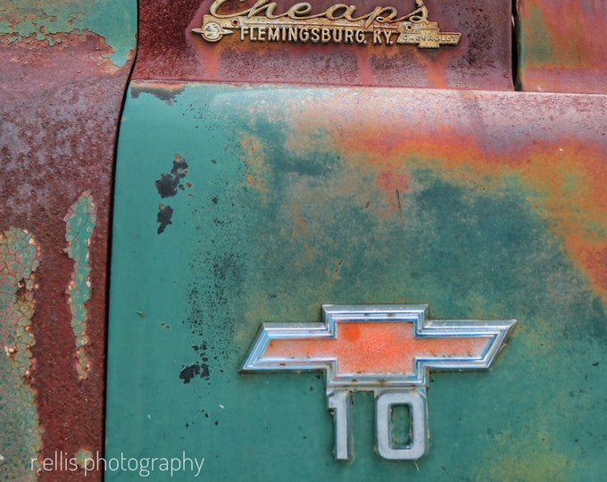Photography, Antique, Chevy Truck Print, Title:  Colorful Old Chevy Truck, 11 x 14 Inch Photographic Print