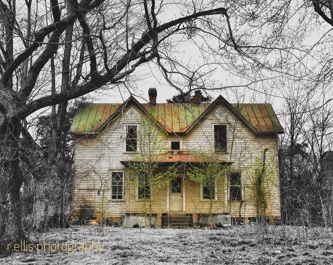 Photography, Primitive, Old House Print, Landcsape Scene, 11 x 14 Inch Photographic Print