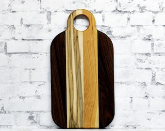 SALE, Price Reduced!!!  Cutting Board, Wood Cutting Board, Cheese Board, Wooden Cutting Board, Walnut, Cherry and Ambrosia Maple Wood