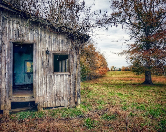 Photography, Side Shed on The Old Tobacco  Barn, 11 x 14 Inch Photographic Print
