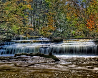 Photography, Landscape, Natural Scene, Title: Waterfall At Big Renox Creek, 11 x 14 Inch Photographic Print