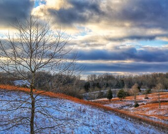 Photography, Natural Landscape, Winter Scene, Title: Winter Arrives at Sparksville, 11 x 14 Inch Photographic Print