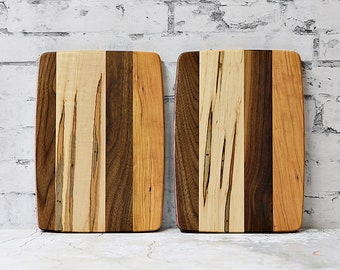Cheeseboard, Sandwich board, Wood Cutting Board, Ambrosia Maple, Cherry and Walnut Wood