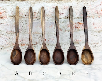 Wooden Spoon, Premium Collection Spoons, Two Toned Walnut Wood