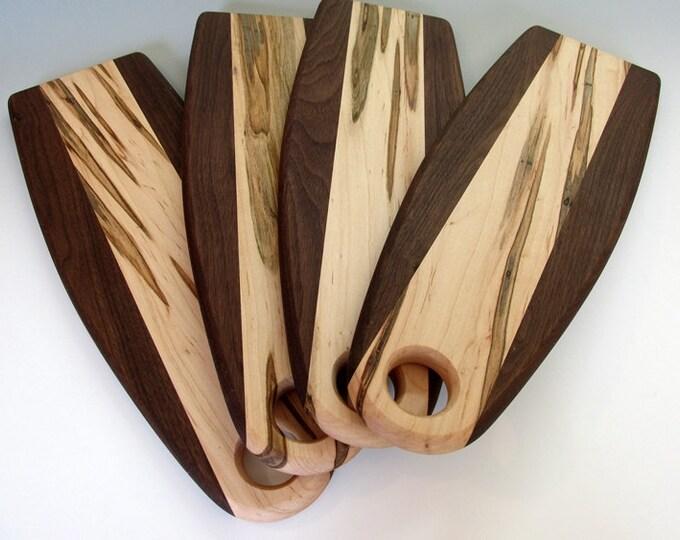 Breadboard, Walnut and Ambrosia Maple