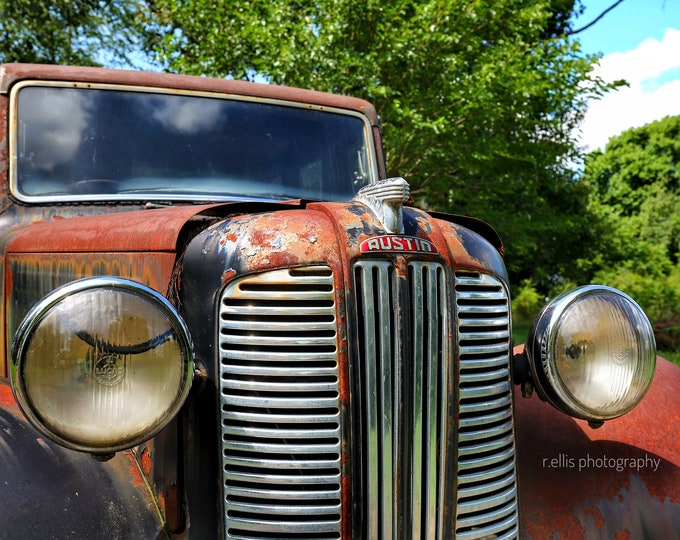 Photography, Antique Austin Up Close, 11 x 14 Inch Photographic Print