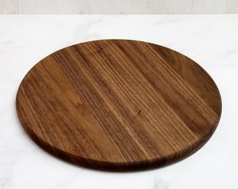 Wooden Cutting Board, Round, Walnut Wood