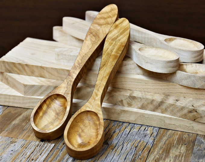 Wood Spoon Blank, Carving Blank, Wider Handled Spoon Carving Blank, Chestnut Wood