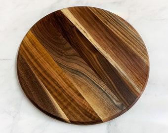 Wooden Cutting Board, Round, Wild Walnut Wood Series