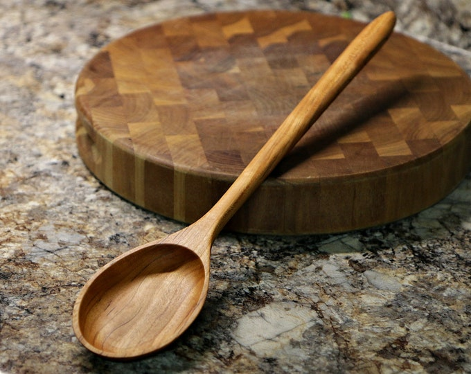 Wooden Spoon, Cherry Wood, Extra Large Size