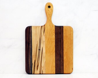 Wood Cutting Board, Walnut, Cherry And Ambrosia Maple Wood