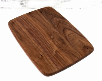 Large or Regular Size Wood Cutting Board, Walnut Wood