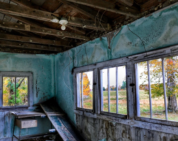 Photography, Primitive, Tobacco Stripping Room...With A View, 11 x 14 Inch Photographic Print