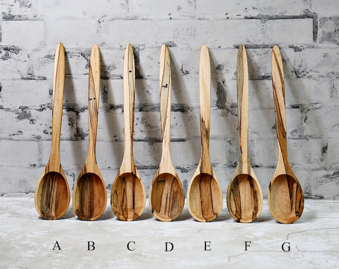 Wooden Spoon, Premium Collection Spoons, Ambrosia Maple Wood