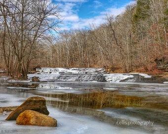 Photography, Landscape Print, Title: The Delightful Falls At Greasy Creek, 11 x 14 Inch Photographic Print