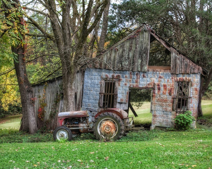 Photography, Antique Tractor, Title: The Old Massey And Jasper Gadberry General Store
