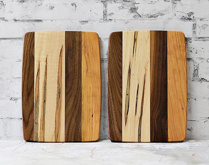 Cheeseboard, Sandwich board, Wood Cutting Board, Ambrosia Maple, Cherry and Walnut Wood