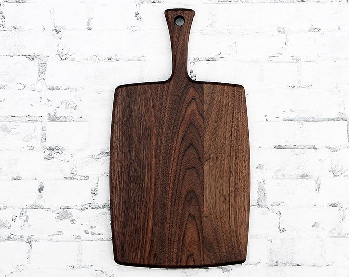 Walnut Cutting Board, With Dovetail Handle