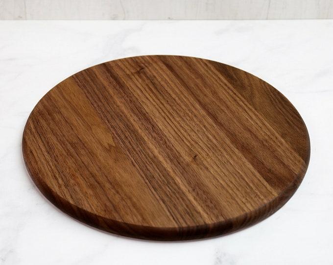 Wooden Cutting Board, Round, Walnut Wood