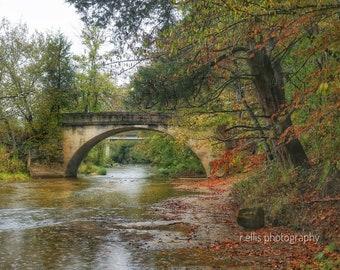 Photography, Landscape, Old Brush Creek Bridge, Green County, Kentucky, 11 x 14 Inch Photographic Print