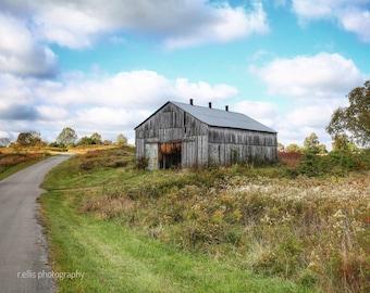 Old Tobacco Barn, Photographic Prints, 11 X 14, Near Gabe Kentucky