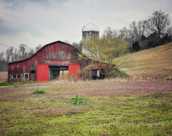 Old Tobacco Barn, Photographic Prints, 11 X 14, Taylor County, Kentucky