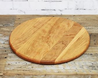 Wooden Cutting Board, Round, Cherry Wood