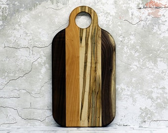 Cutting Board, Wood Cutting Board, Cheese Board, Wooden Cutting Board, Walnut, Cherry and Ambrosia Maple Wood
