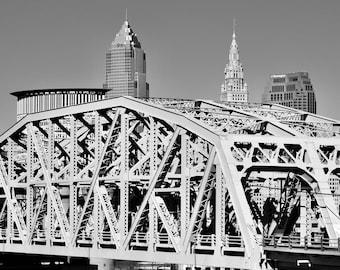 Cleveland Skyline at Union Terminal Viaduct, 8x10 Print