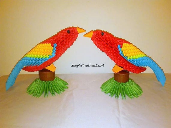 origami Parrot Easy | How to make an easy paper parrot | Origami ... | 428x570