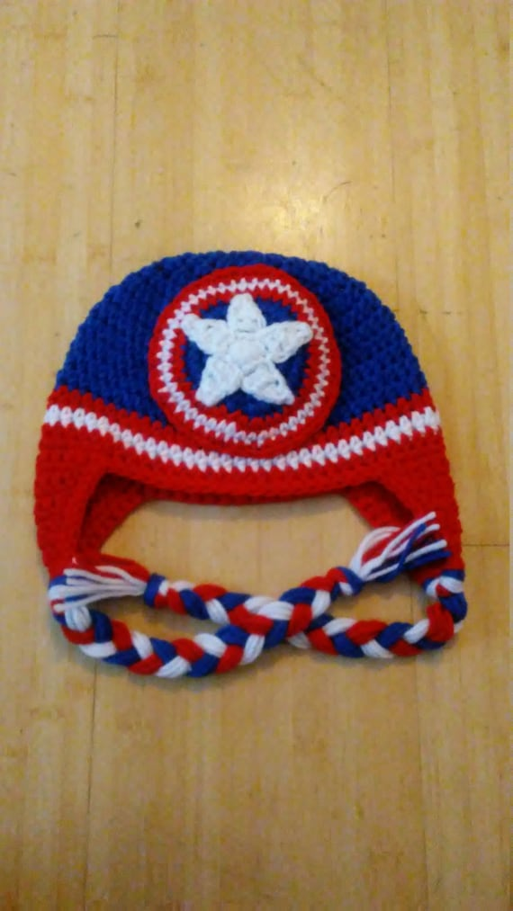 Baby Captain America Hat Crochet Captain America Hat. Baby  290109ee979