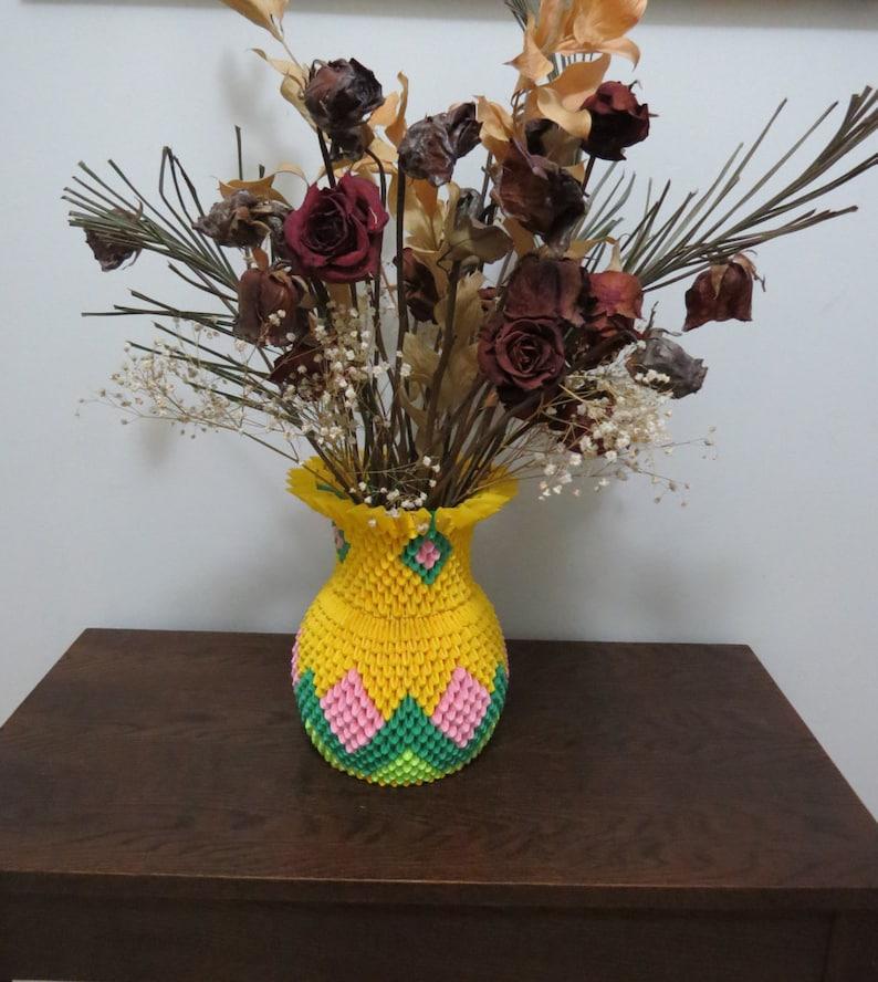 Etsy & 3D Origami Flower Vase Vase Home Decor Gifts Women. Handmade Vase