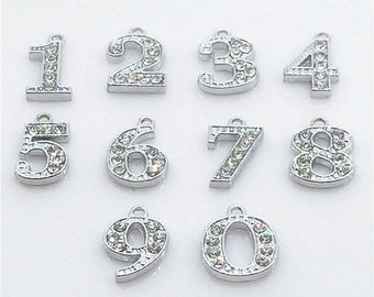 8df300e63ee93 Number charms | Etsy
