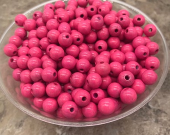 16mm Donut stained Sugar Maple wood  beads 12 pieces 6 mm hole