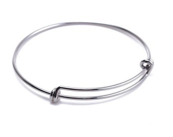 Expandable Bangle - Silver