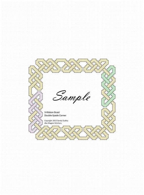 Celtic knotwork border pattern fits 4x6 & 5x7 | Etsy