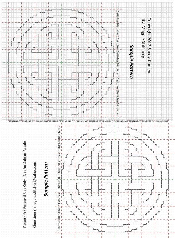 Celtic Knotwork Border Cross Stitch Or Needlepoint Pattern Etsy