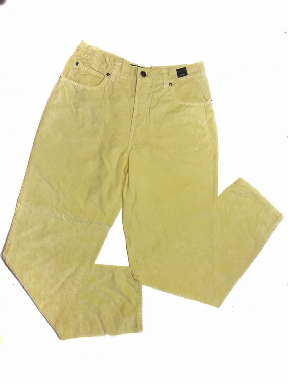 1990s VERSACE Jeans Couture Vintage / Pale Yellow