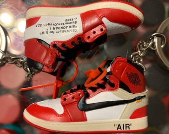 super popular 88b68 fd128 2018 Nike The 10 Off White Air Force 1 High Chicago 3D Keychain
