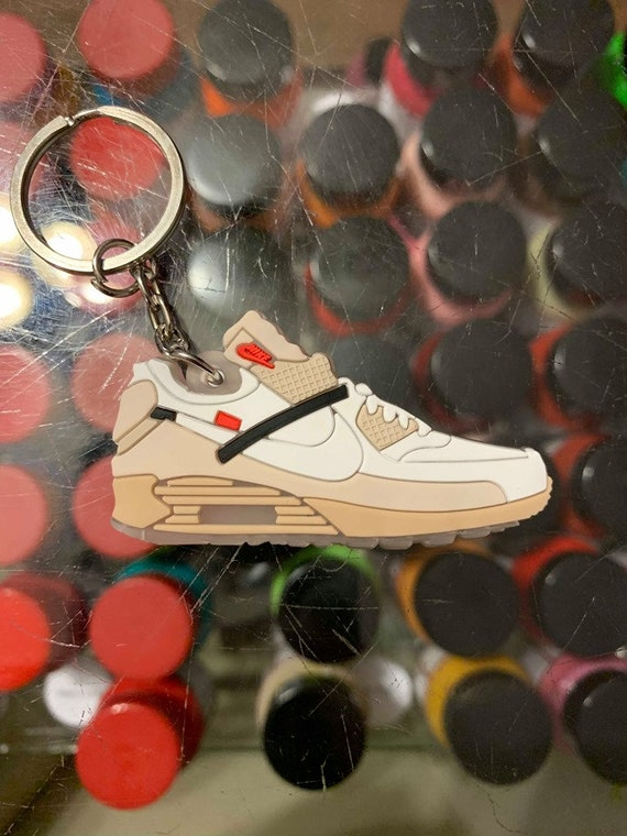 2017 Nike The 10 Off White Air Max 90 Ice 2D Keychain