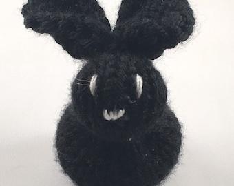 76156899e32 Hand-Knit Bunny Plushie - Black