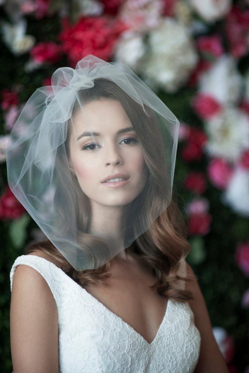 birdcage veil bird cage veil blusher veil tulle bridal image 0